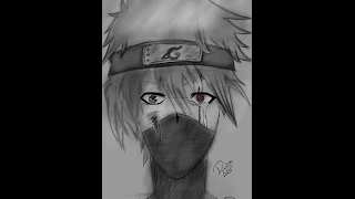 【Speeddrawing】How to draw a kakashi from naruto
