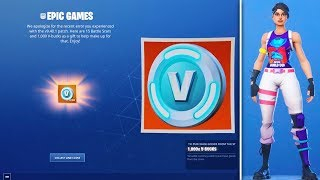 Mise à jour Fortnite: Gratuit 1000 V-Bucks, TRÈS RARE SKINS INCOMING, World Cup Event, - PLUS