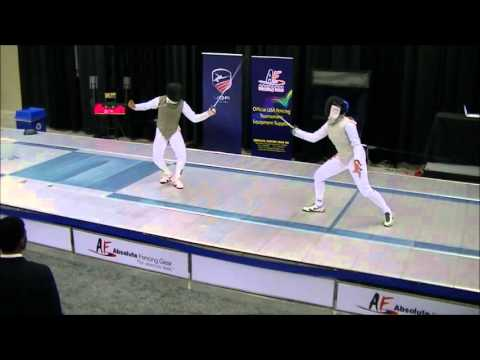2016 USA Fencing Junior Olympic Championships Cadet Women's Foil Gold Medal Final