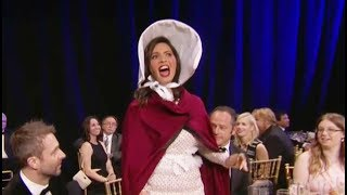 Olivia Munn Raps Her Way Through The Most Awkw ard Aw ard Show Opening Ever At Critics'