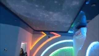 Двухуровневый дизайнерский натяжной потолок Звездное небо(Двухуровневый дизайнерский натяжной потолок Звездное небо., 2015-06-12T02:05:40.000Z)