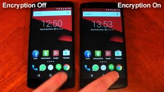 Nexus 5 - Android 5.0 Lollipop - Encrypted vs Unencrypted