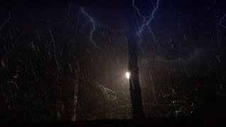 Heavy Rain At Night, Thunderstorm Sounds - Relaxing Rain, Thunder & Lightning Ambience for Sleep