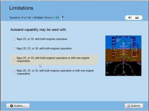 BOEING B787 Dreamliner Limitations Quiz