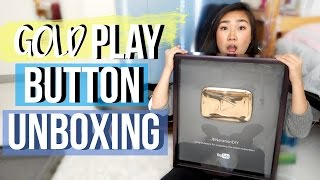Gold Play Button Unboxing!! | JensLife
