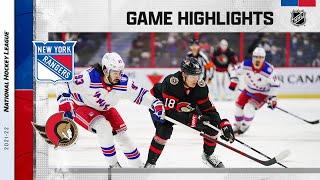 Rangers @ Senators 10/23/2021 | NHL Highlights