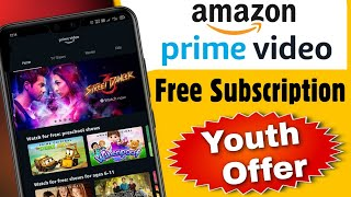 Amazon Prime Offer, Amazon prime Youth Offer, Airtel, Vodafone Offer, Amazon Free Subscription Offer