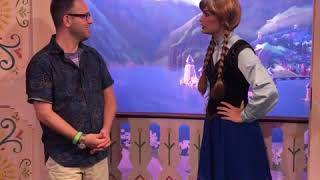 Princess Anna teaches dance! Amazing character interaction.