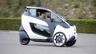 Extraños autos de 3 ruedas ayudarán a disminuir la contaminación