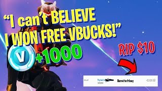 I gave VBUCKS to the FIRST PERSON to beat me in a 1v1 and THIS happened.... (Fortnite Battle Royale)