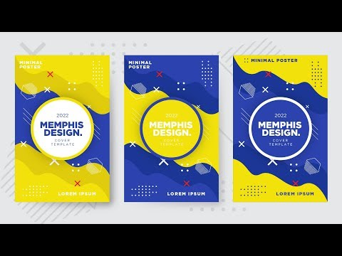Memphis Design Cover Template | Illustrator Tutorials | TL thumbnail