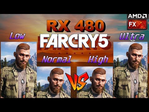 Far Cry 5: FPS Benchmark (Rx 480 Fx 8350) Preset Comparison Gameplay| Radeon Adrenalin 18.3.4 Driver