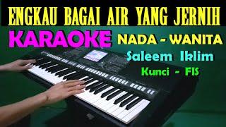 SUCI DALAM DEBU - Iklim - KARAOKE Nada Wanita / Cewek    Lirik, HD