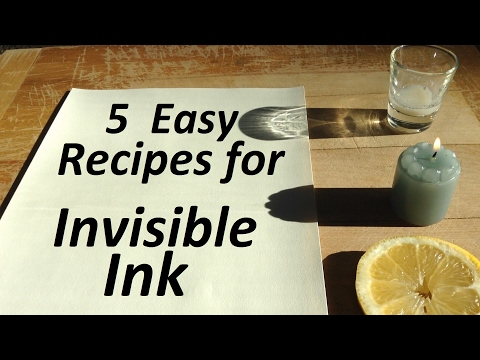 How to make invisible ink with urine