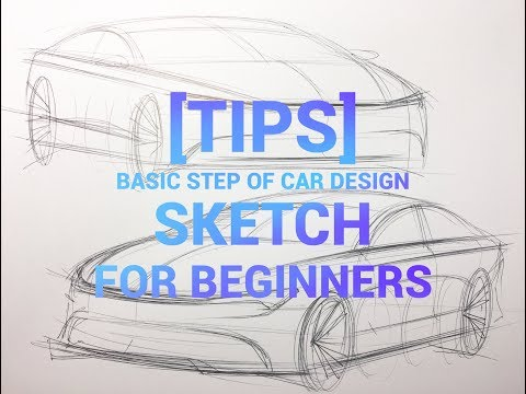 [Tips] basic step of  car design sketch for beginners