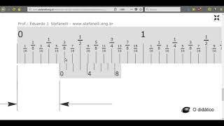 """Nonio (Vernier) en fracciones de pulgada 1/128"""""""