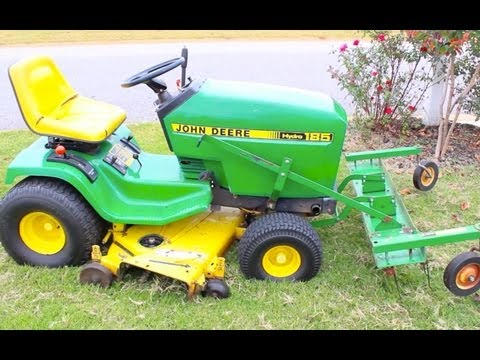 HOW TO DETHATCH YOUR LAWN JOHN DEERE DE THATCHER RAKE FOR GRASS
