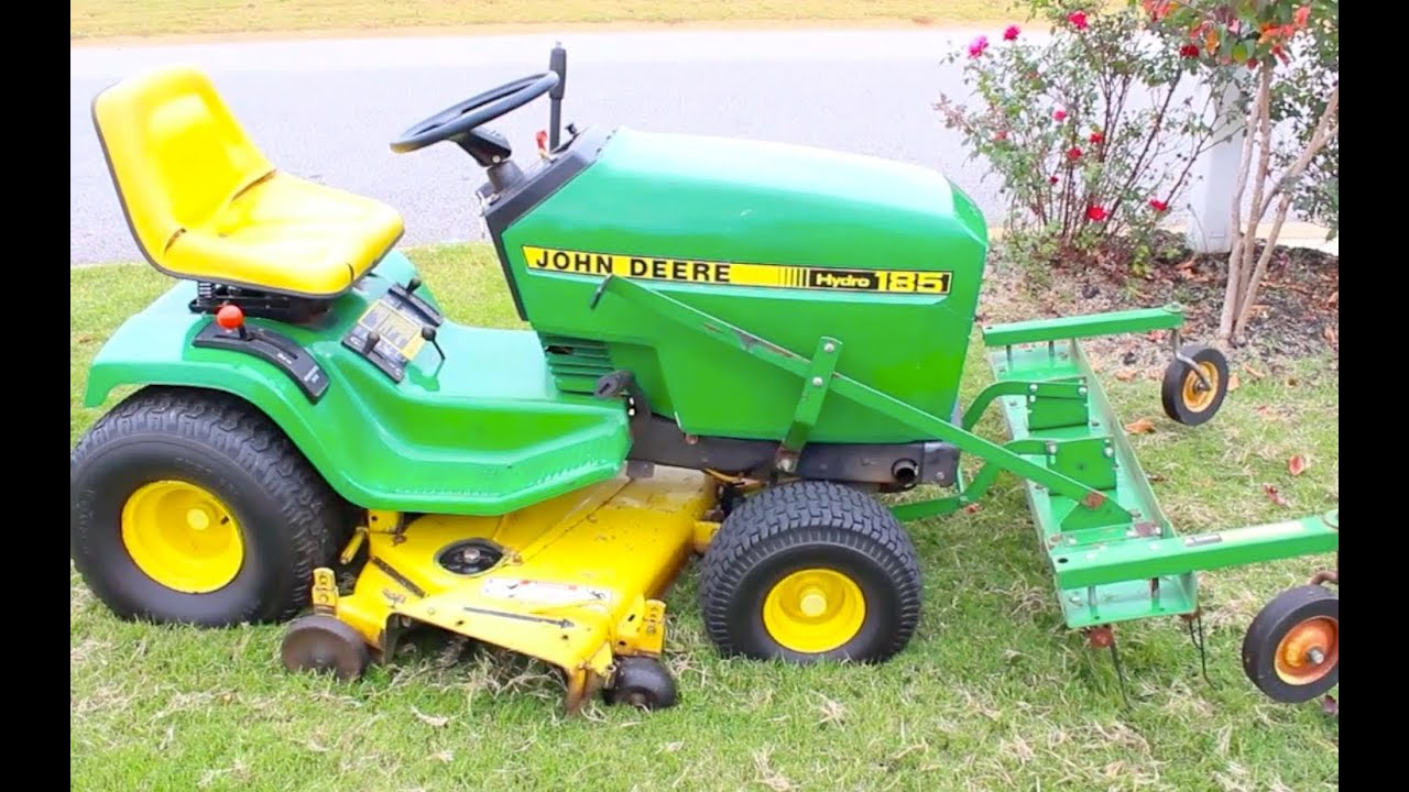 How To Dethatch Your Lawn John Deere De Thatcher Rake For Gr