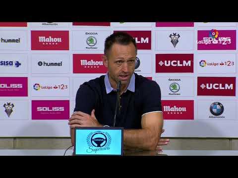 Rueda de prensa de José Manuel Aira tras el Albacete Balompié vs Real Oviedo (2-1)