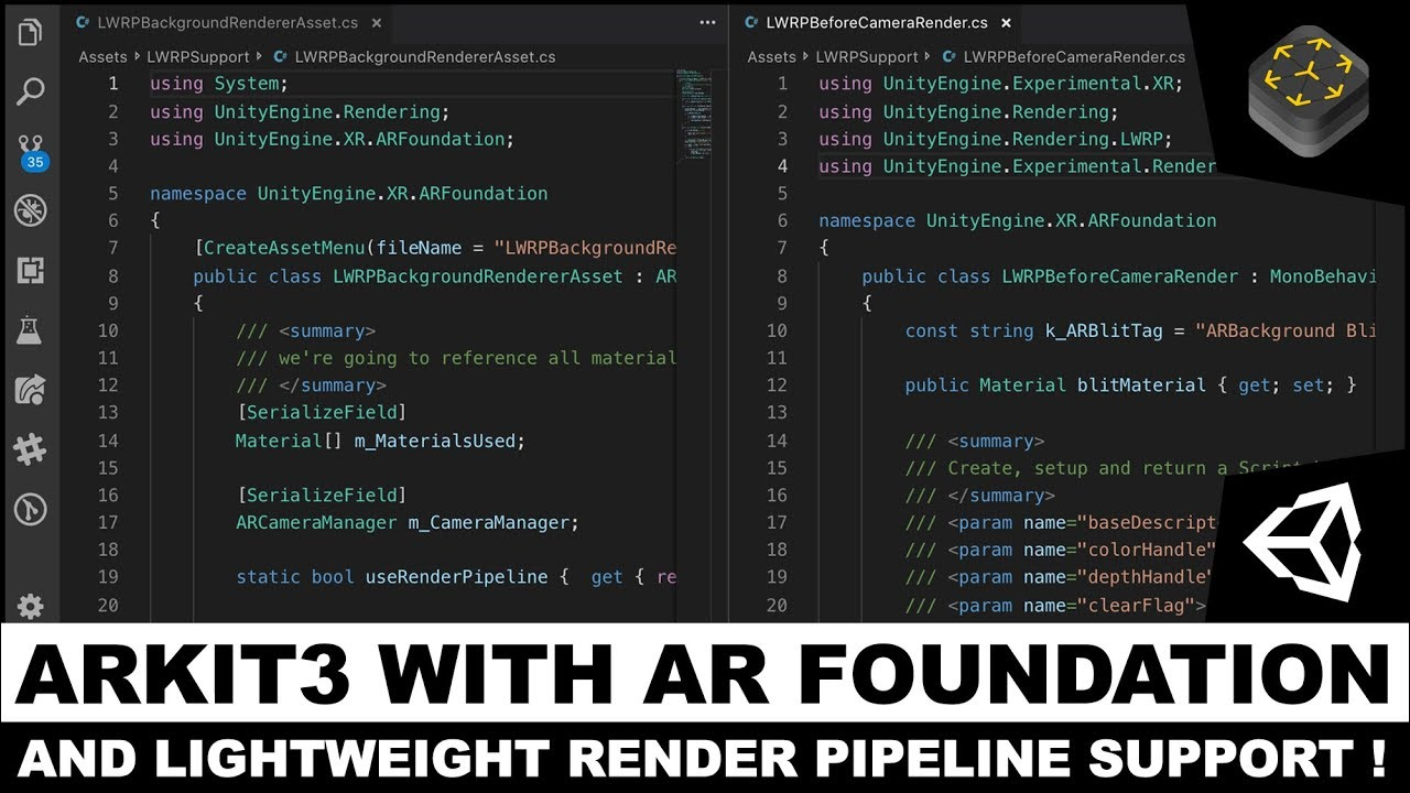 Unity3d AR Foundation with Lightweight Render Pipeline Support - LWRP