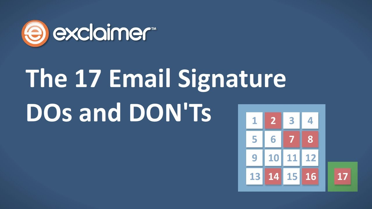 The 17 Email Signature DOs and DON\'Ts - YouTube