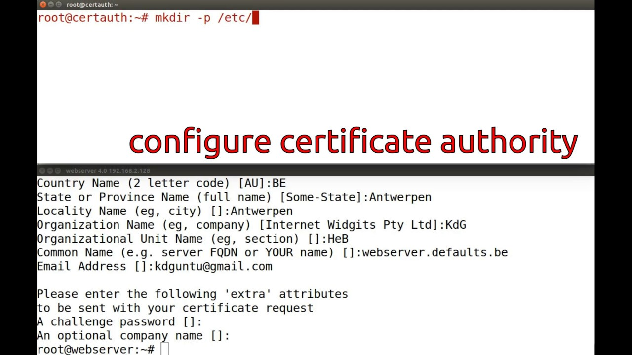 Configure Apache With Https And Configure An Internal Ca Youtube