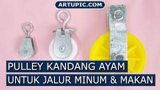Pulley Katrol 90 mm 3.5 Inch untuk nipple terpal kandang Kapasitas 100 kg lebih