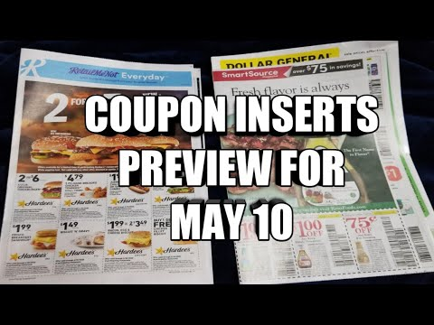 COUPONS INSERTS PREVIEW FOR MAY 10TH