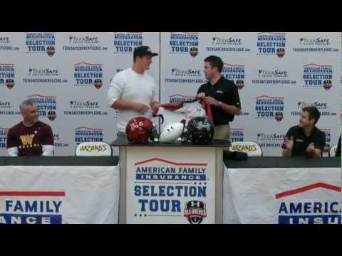 Joey O'Connor Under Armour Game jersey presentation