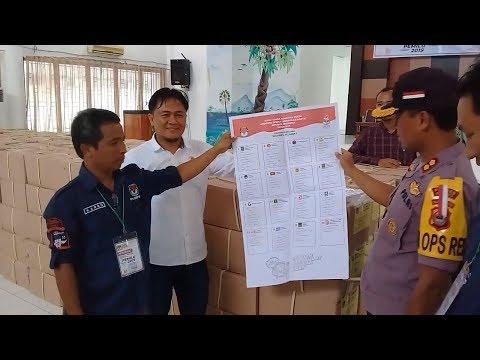 Kerahkan 126 Petugas, KPU Jeneponto Mulai Sortir Surat Suara