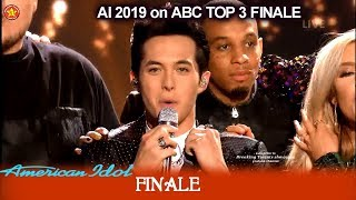 "Laine Hardy Wins and sings ""Flame"" Winner Single 