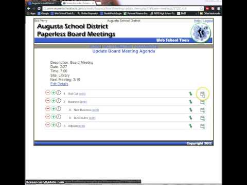 Paperless Board Meeting - Administrator Demo