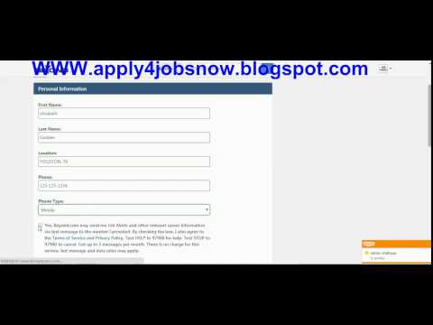 How to apply for a job online