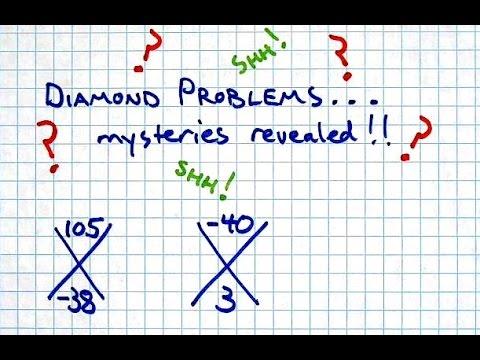 Solve Diamond Problems with the Quadratic Formula