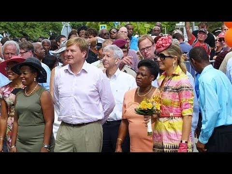 King Willem-Alexander's and Queen Maxima's visit to Netherlands Antilles