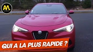 Alfa Romeo Stelvio vs Mercedes GLC : Qui est le plus rapide ?