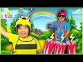 BUG SONG FOR KIDS | Body Parts Exercise and Dance with Ryan ToysReview!