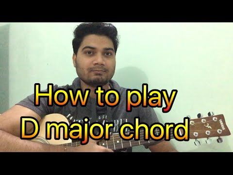 Basic guitar lesson  (class - 8) How to Play the D Chord (In Hindi)