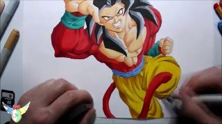 Speed draw Goku Ssj4 孫 悟空