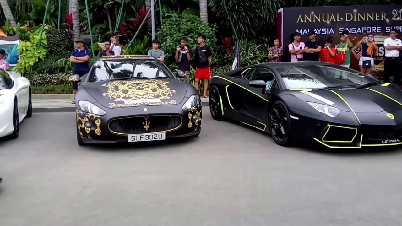 Malaysia Singapore Super Cars Departing Forest City Sales Gallery