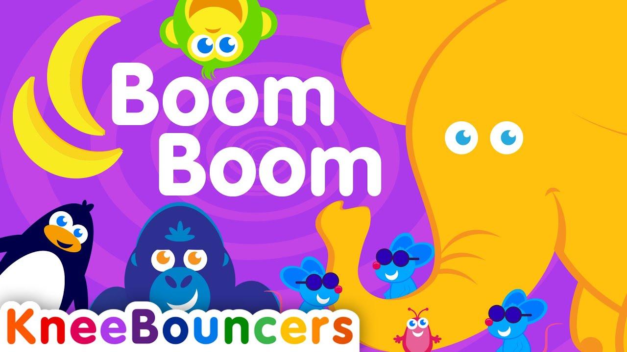 Boom Boom  |  Toddler Songs  |  Nursery Rhymes  |  KneeBouncers