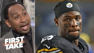 Le'Veon Bell's deal with Jets means goal with holdout was unsuccessful - Stephen A. | First Take