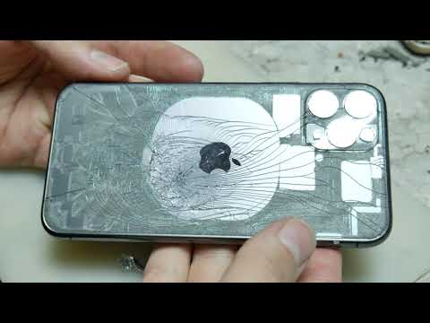 Iphone 11 PRO / Замена заднего стекла без разборки на лазере/ 11 Pro Backglass Replacement