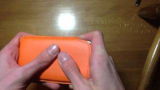 Orange Leather Pouch Review For Samsung Galaxy Nexus