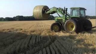 Picking Up Straw Bales