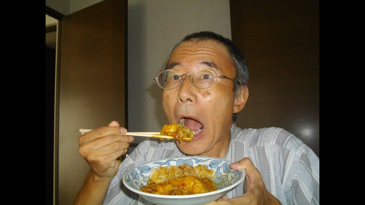 キャベツを入れたチキンカレー・・作って食べてます。