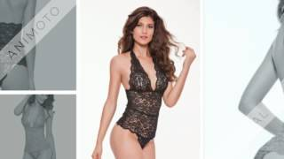 Womens Sexy V Halter Lingerie One Piece Lace Babydoll With Plus Size | Choco Honey