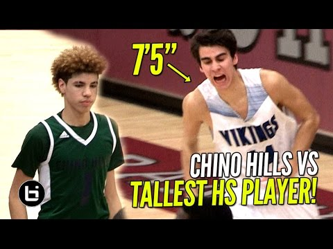"Chino Hills Win 50th STRAIGHT Game vs 7'5"" Sophomore! Full Highlights! LaMelo Ball Gets RANGY!"