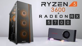 $900 Ryzen 5 3600 + RX 5700 Gaming PC Build 2019! (W/ Gaming Benchmarks)