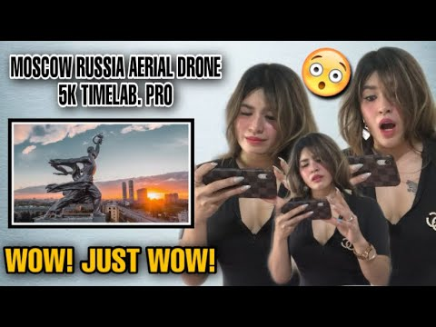 MOSCOW RUSSIA AERIAL DRONE 5K TIMELAB.PRO | Москва Россия Аэросъемка | FILIPINA REACTION
